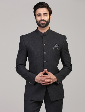 Elegent dark grey party wear jodhpuri blazer