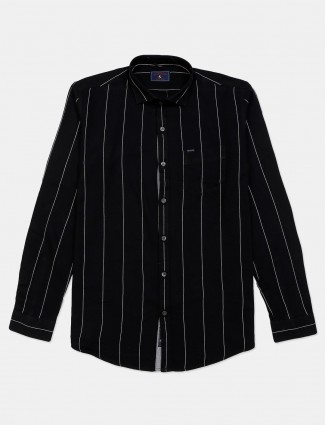 Eqiq black stripe cotton shirt