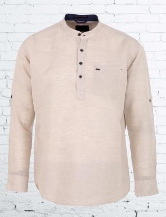 EQIQ cream hue cotton shirt