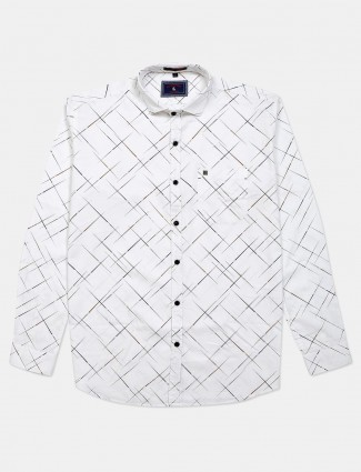 Eqiq printed white cotton shirt