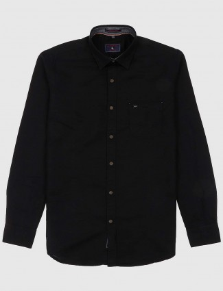 EQIQ solid black colored shirt