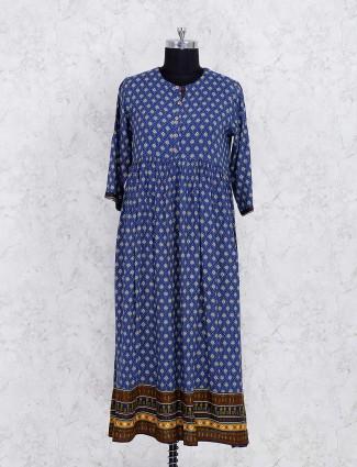 Exclusive blue cotton kurti