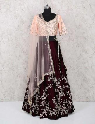 Exclusive maroon color lehenga choli