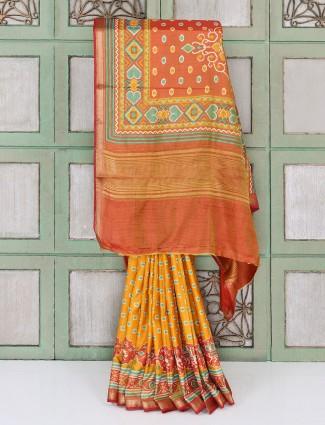 Exclusive patola cotton silk saree