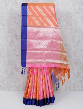 Exclusive pink and peach wonderful saree