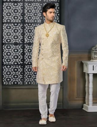 Fashionable Beige designer Indo Western