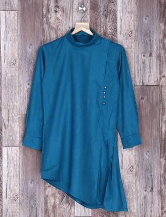 Festive rama green kurta suit