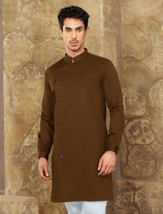 Festive wear brown short pathani