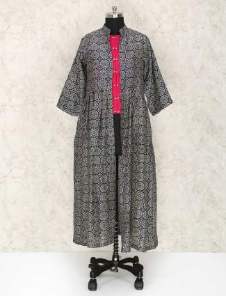 Festive wear indo western silk punjabi suit