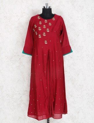 Festive wear maroon hue kurti