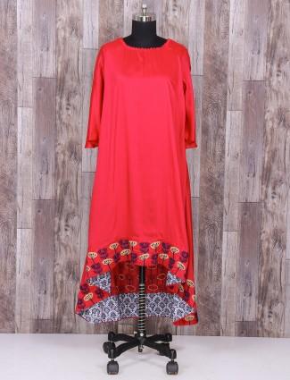 Festive wear Silk magenta color punjabi suit