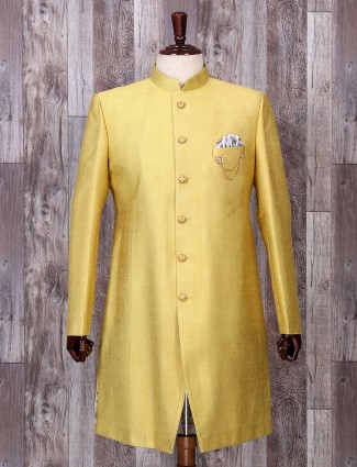 Festive wear yellow hue indo western