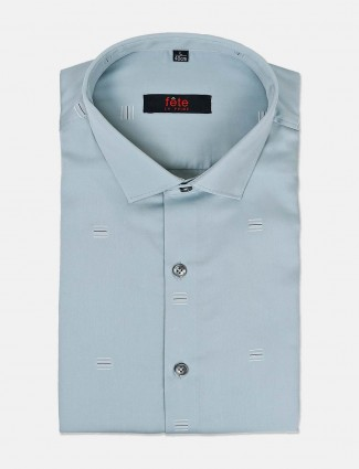 Fete sea green zitter design shirt