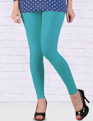 FFU aqua solid ankal length leggings