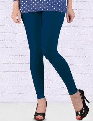 FFU cotton royal blue hue ankal length leggings