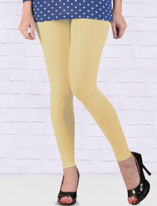 FFU cream hue skinny fit ankal length leggings