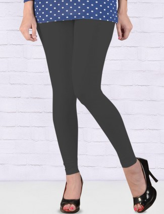 FFU grey solid comfortable ankal length leggings