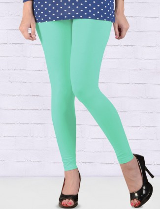 FFU mint green hue solid ankal length leggings