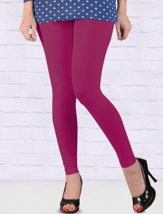 FFU purple regular solid ankal length leggings