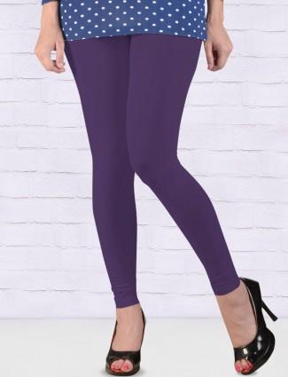 FFU simple voilet hue ankal length leggings