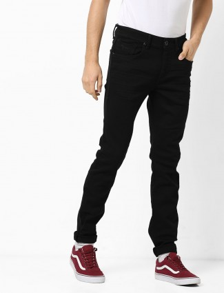 Flying Machine black plain denim Jeans