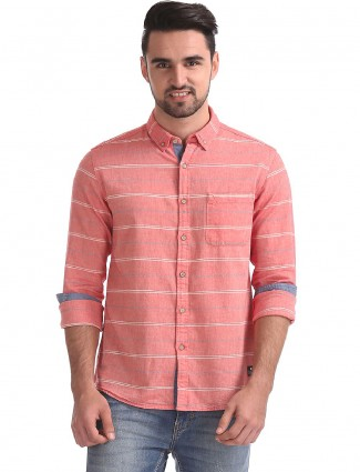 Flying Machine pink cotton shirt