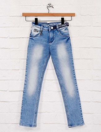 Forway blue washed effect slim fit jeans