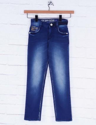 Forway dark navy hued slim fit jeans