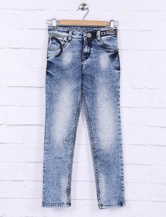Forway simple casual wear blue jeans