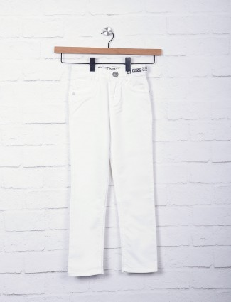 Forway white solid jeans
