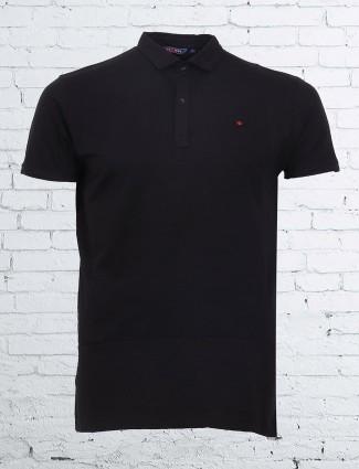Freeze casual wear black plain cotton t-shirt