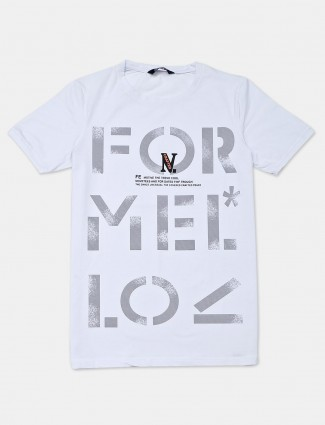 Freeze casual wear white cotton t-shirt