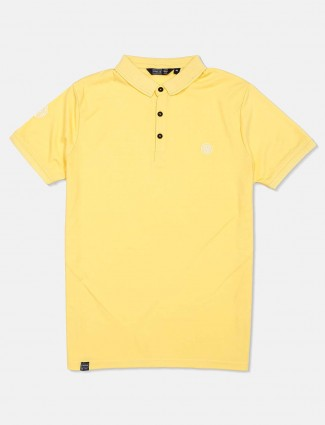 Freeze cotton yellow solid t-shirt