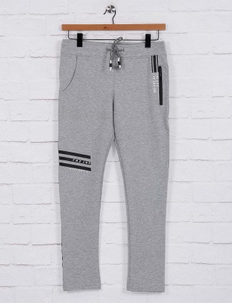 Freeze light grey cotton track pant