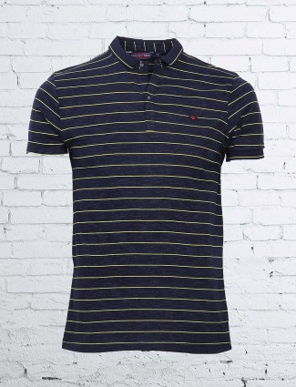 Freeze navy and yellow cotton t-shirt
