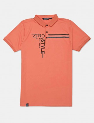 Freeze peach slim fit half sleeves t-shirt