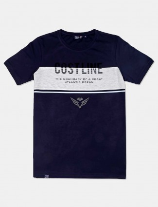 Freeze presented printed navy t-shirt