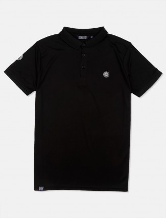 Freeze solid casual black t-shirt