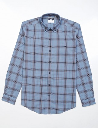 Frio blue casual wear checks shirt