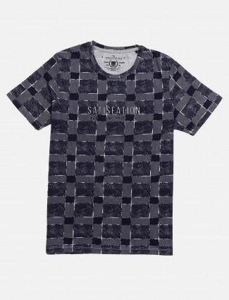 Fritzberg blue checks slim fit t-shirt