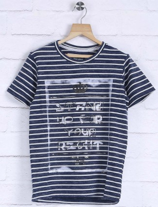 Fritzberg blue hue stripe t-shirt
