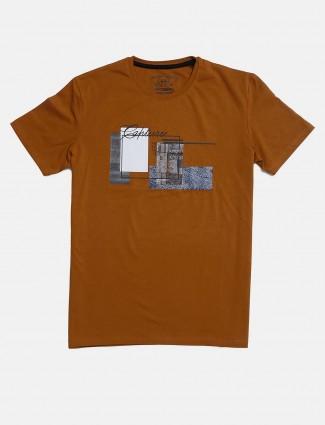 Fritzberg brown printed casual t-shirt