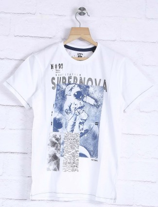 Fritzberg cotton white hued t-shirt