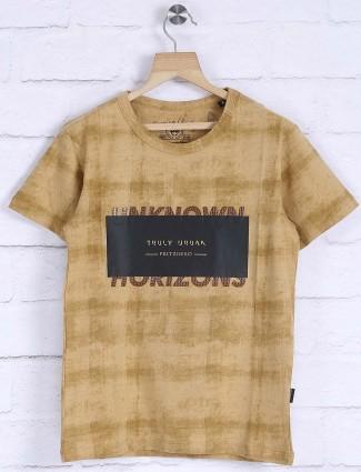 Fritzberg light brown boys t-shirt