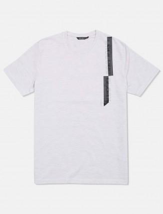 Fritzberg light grey solid cotton t-shirt