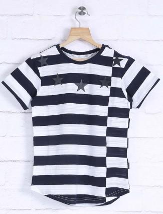 Fritzberg navy and white stripe t-shirt