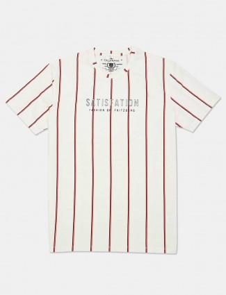 Fritzberg presented stripe white t-shirt