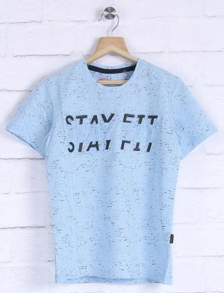 Fritzberg sky blue colored cotton t-shirt