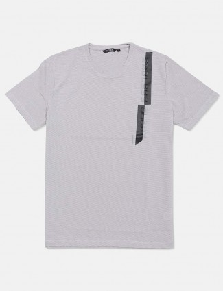 Fritzberg solid grey cotton casual t-shirt