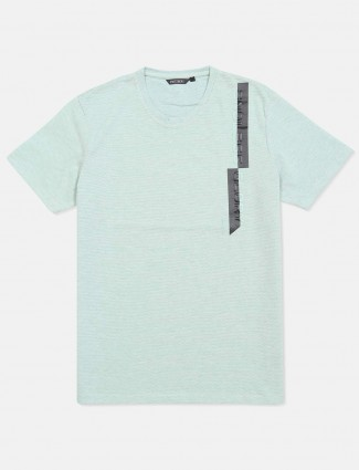 Fritzberg solid pista green cotton t-shirt